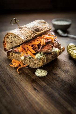 Steak Sandwich with Chimichurri Sauce