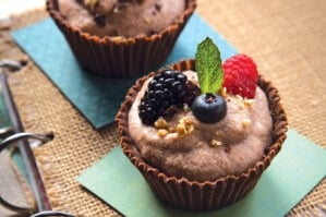 Double Chocolate Mousse Cups