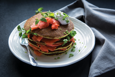 Pea Shoot Savoury Pancakes