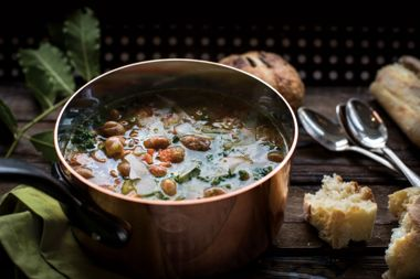 Savoury Borlotti Bean Soup
