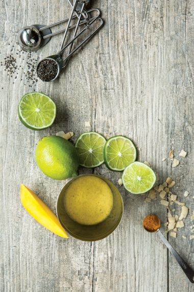 Coconut, Mango, Lime, and Turmeric Smoothie