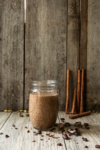 Spiced Cocoa, Coffee, and Chia Smoothie
