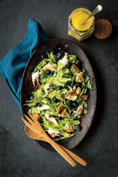 Shredded California Chicken and Blueberry Salad with Camelina Oil Orange Vinaigrette