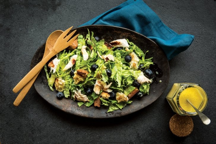 Shredded California Chicken and Blueberry Salad with Camelina Oil Orange Vinaigrette