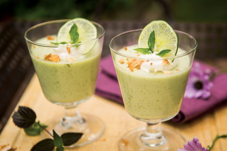 Coconut, Basil and Lime Panna Cotta