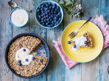 Granola Pie with Maple Yogurt