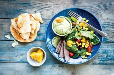 Steak Taco Salad with Avocado Crema