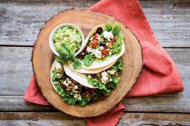 Walking Vegetarian Tacos