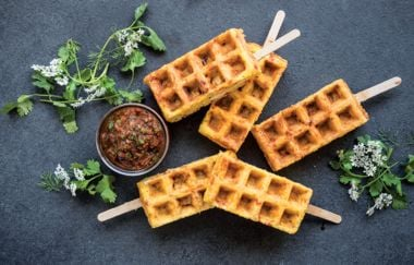 Chicken and Waffle Pops