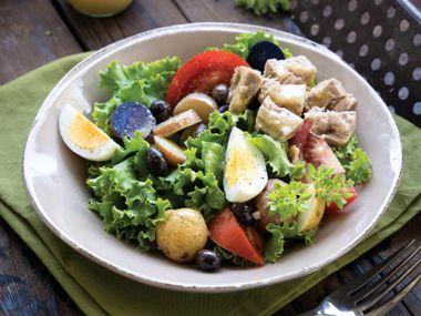 Tuna and Egg Nicoise with Roasted Baby Potatoes