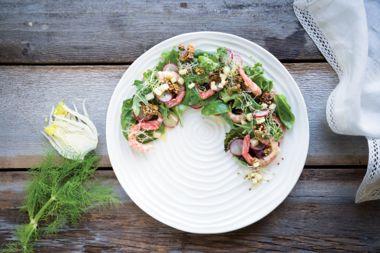 Sidestripe Shrimp Salad and Pickled Apple