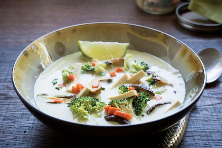 Thai Green Curry Coconut Soup