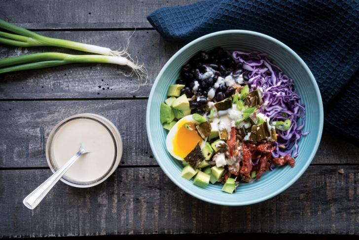 Dulse Egg Bowl with Tahini Sauce