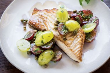 Sablefish Fillets with Grape and Caper Salsa