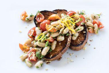 Marinated Beans on Toast