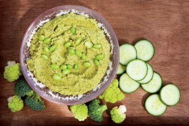 Green Machine Protein Hummus