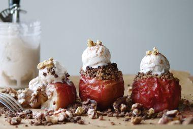 Whole Roasted, Crumble-Stuffed Apples