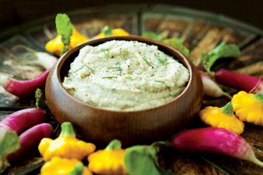 Roasted Garlic Bean Dip