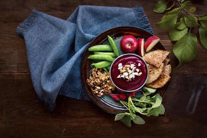 Rosy Beetroot Hummus