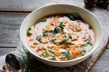 Chicken Barley Mushroom Soup