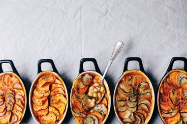 Vegetable and Bean Pot Pies with Potato Crusts
