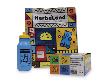 Win 1 of 3 Cases of Herbaland Protein Gummies!