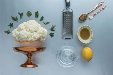 Lemony Whole Roasted Cauliflower