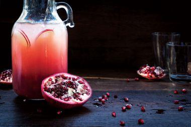 """Sparkling Pomegranate and Grapefruit """"Sangria"""""""
