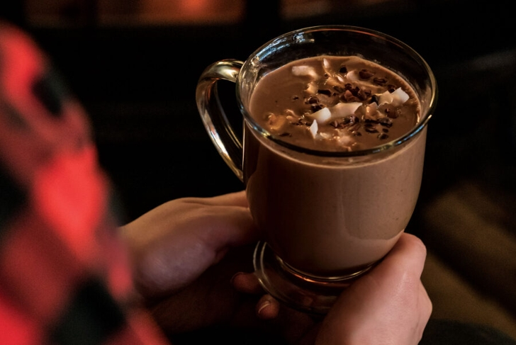 Coconut Black Forest Hot Chocolate