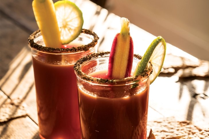 Red Hot Tomato and Carrot Caesar