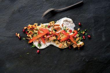 Halloumi Eggplant Stir-Fry