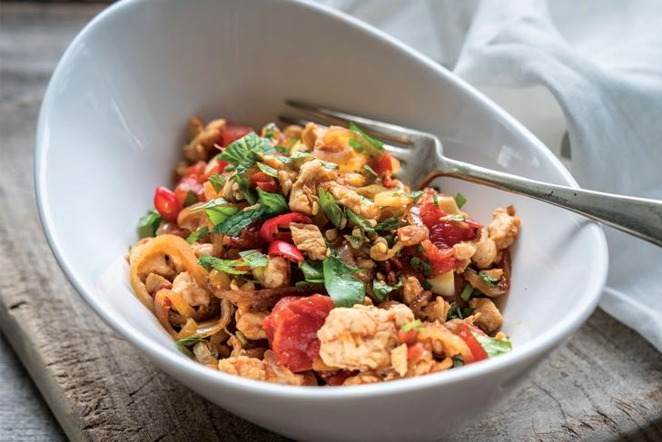 Burmese-style Chicken Stir-Fry