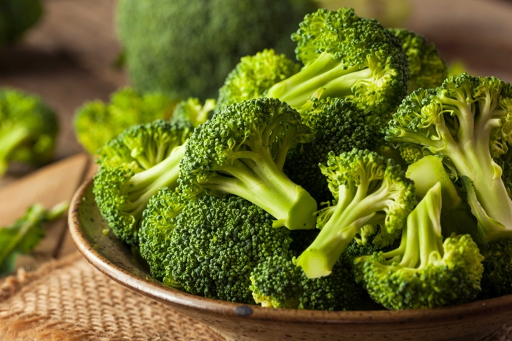 Healthy Green Organic  Raw Broccoli Florets Ready for Cooking