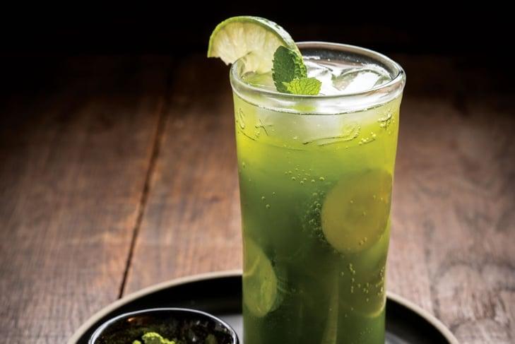 Matcha, Mint, and Cucumber Cooler