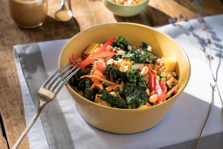 Thai Kale Sorghum Salad