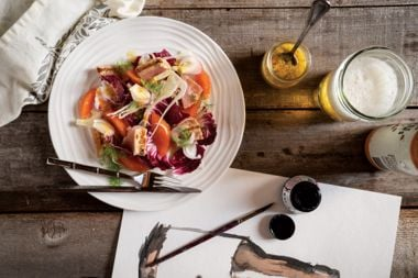 Grilled Tuna with Orange, Fennel, and Citrus Beer Dressing