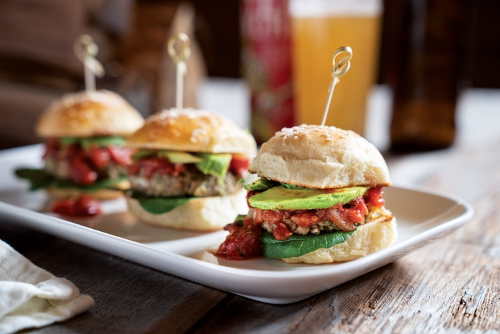 Falafel Sliders with Smoky Tomato Sauce