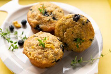 Blueberry Cornbreads
