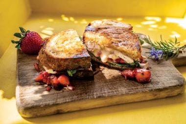 Chipotle Strawberry Chicken Grilled Cheese