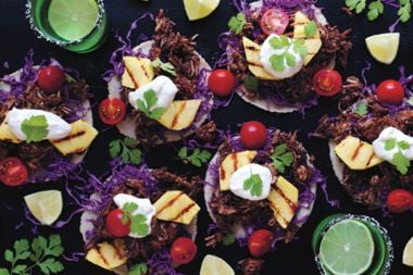 Jerked Jackfruit Tacos with Grilled Pineapple