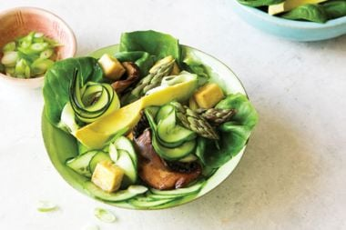 The Great Green Salad with Green Goddess Dressing