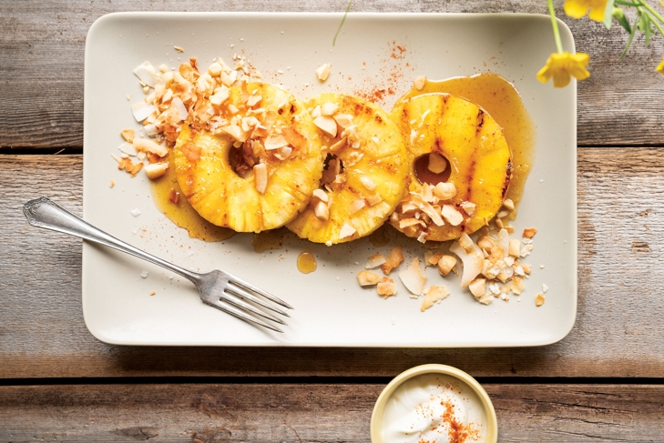 Grilled Honeyed Pineapple and Macadamias