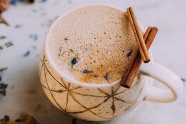 Cozy Tahini Reishi Latte with Herbal Coffee