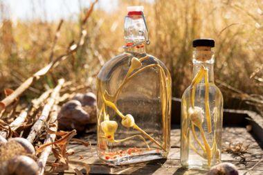 Aromatic Garlic Scape Vinegar