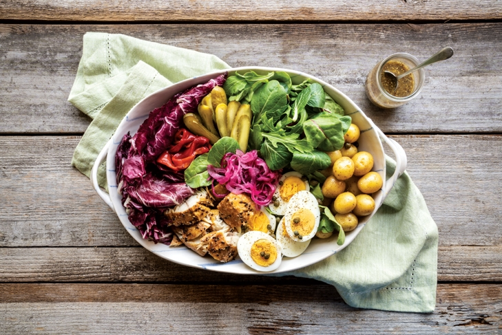 Mackerel Potato Egg Salad