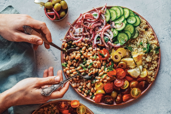 The Works! Fully Loaded Quinoa Greek Salad