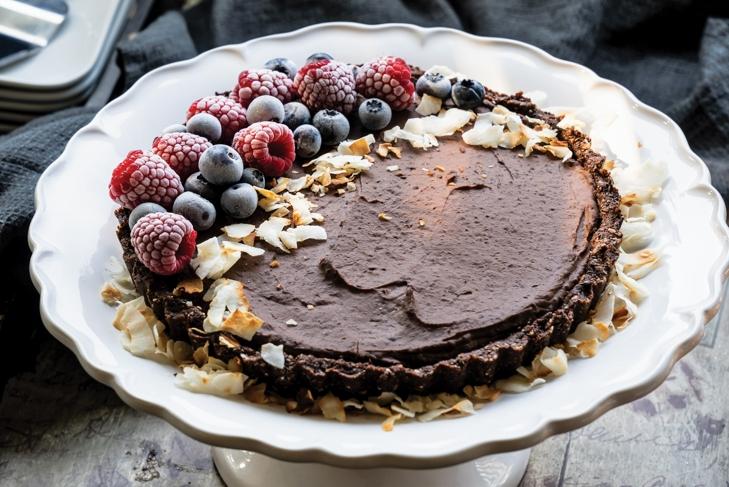 No-Bake Rich Chocolate Coconut Tart