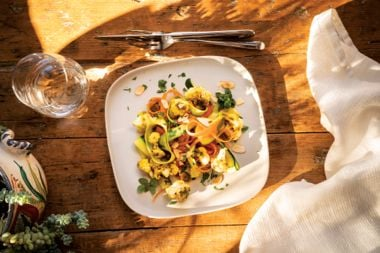Roasted Cauliflower Salad with Toasted Almonds and Ginger-Turmeric Vinaigrette