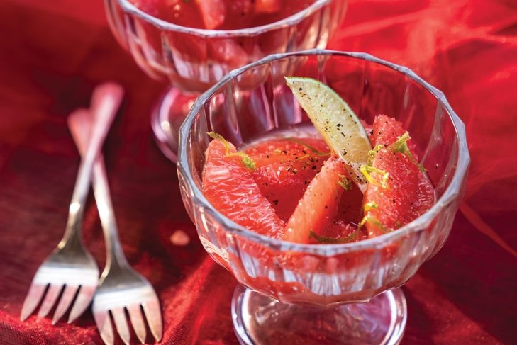 Spiced Ruby Red Grapefruit Salad
