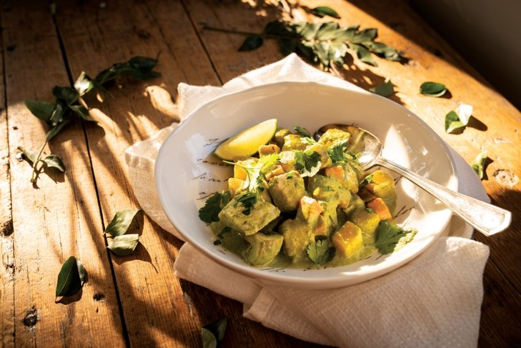 Thai Green Curry with Chicken or Chickpeas and Oyster Mushrooms